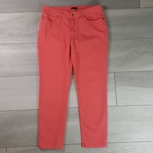 Eileen Fisher Pink Organic Cotton Skinny Jeans 12